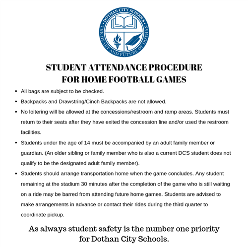 Student Attendance Procedure for Home Football Games