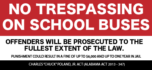 No Trespassing on School Buses