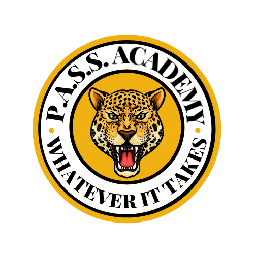 JAGUAR IN CIRCLE THAT READS PASS ACADEMY - WHATEVER IT TAKES