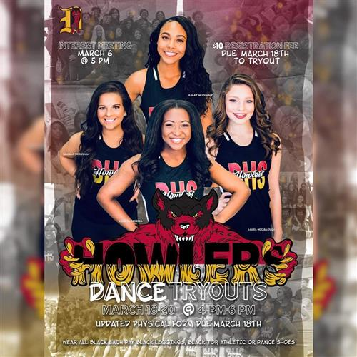 Howlers Dance Team Tryouts