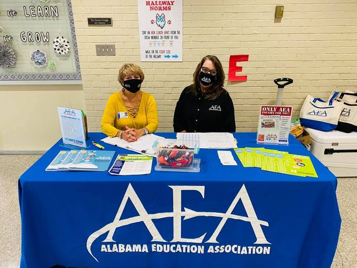 Thank you, Rhonda Hicks, UniServ District 26 Director & Charm Russler, Retired Dothan Educator, AEA