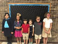 This picture shows the August Top Readers per grade level.