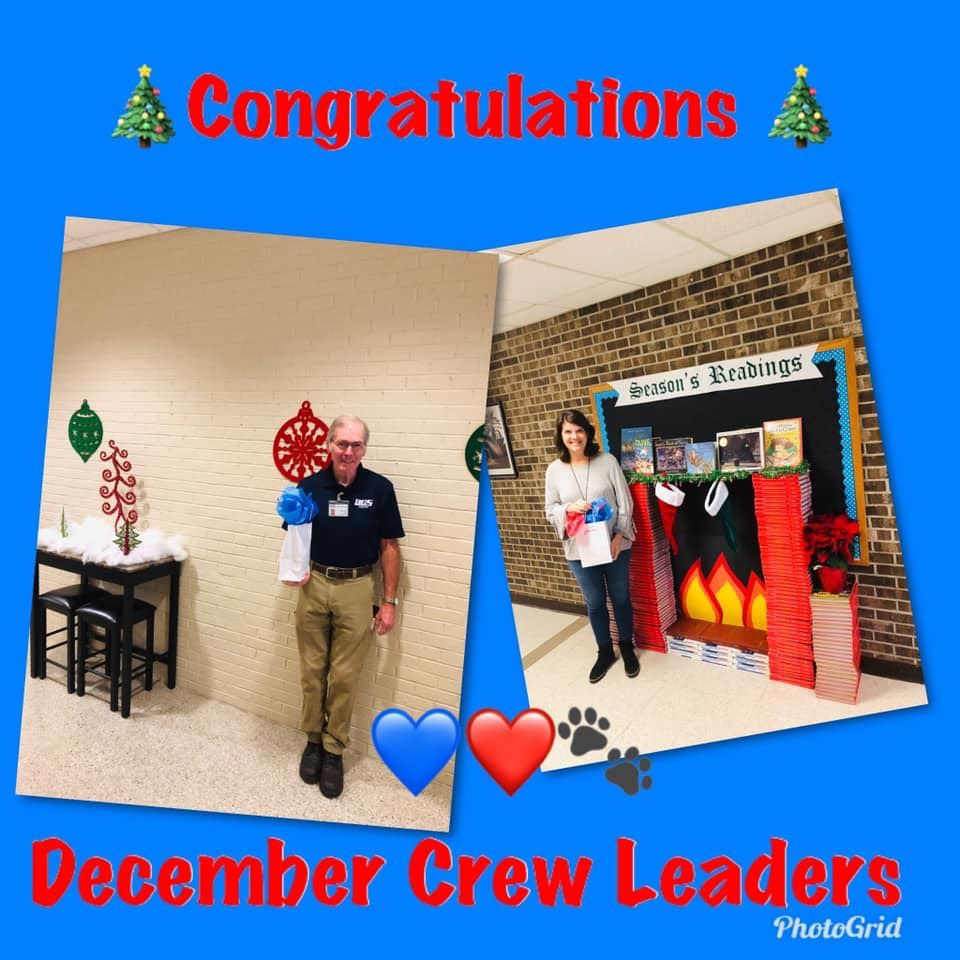 December CREW leaders Mr. Ricky and Mrs. Tucker