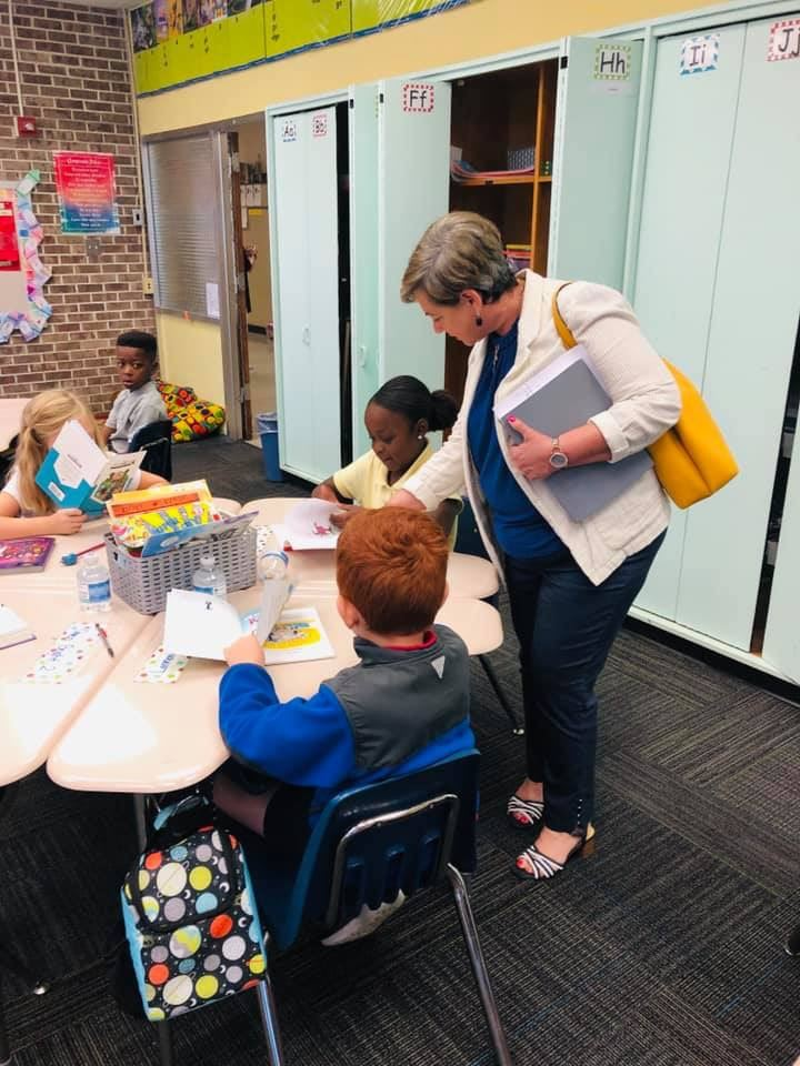Dr. Edwards visits Heard Elementary School
