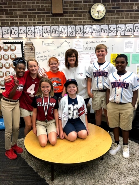 Mrs. Rivenbark's class Home Run Sports Day