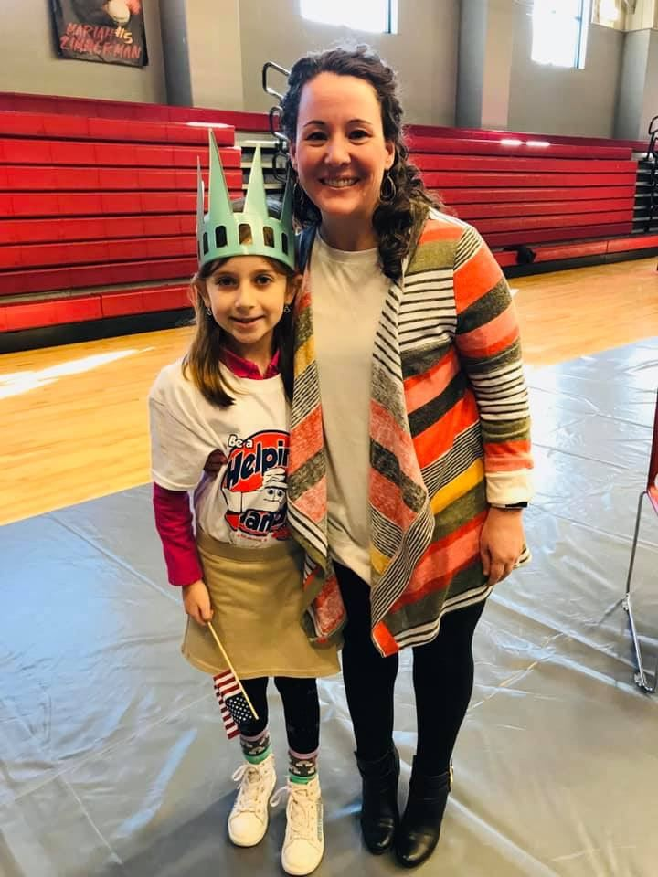 Naomi Willmott and our second grade CREW members honored our Liberty's Legacy Super Citizen, Mrs. Mandy Knight, a director of an afterschool program