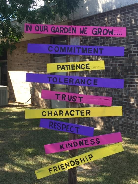 Our Garden Sign updated by Ms. Moorheard