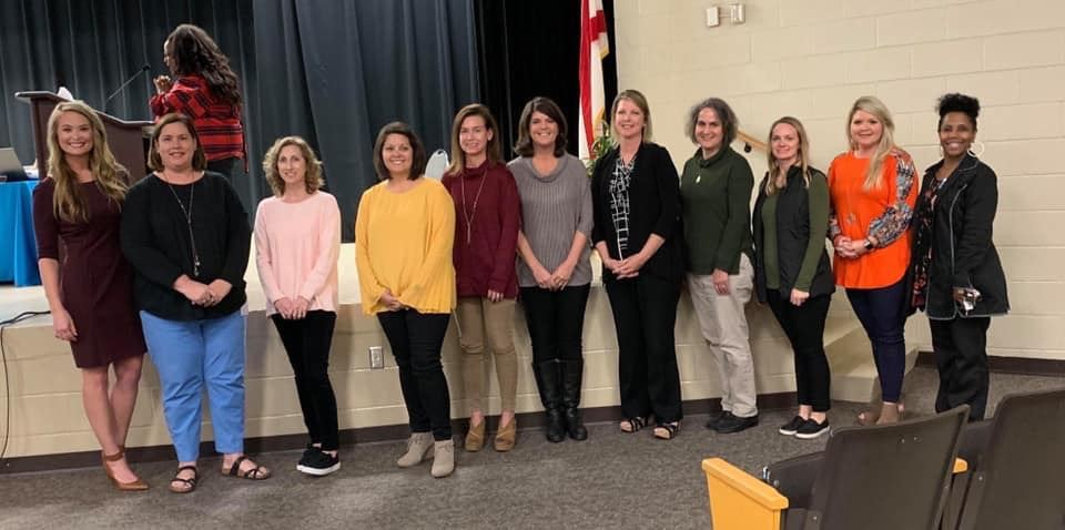 Media Specialists were honored at the Dothan City Schools Board Meeting