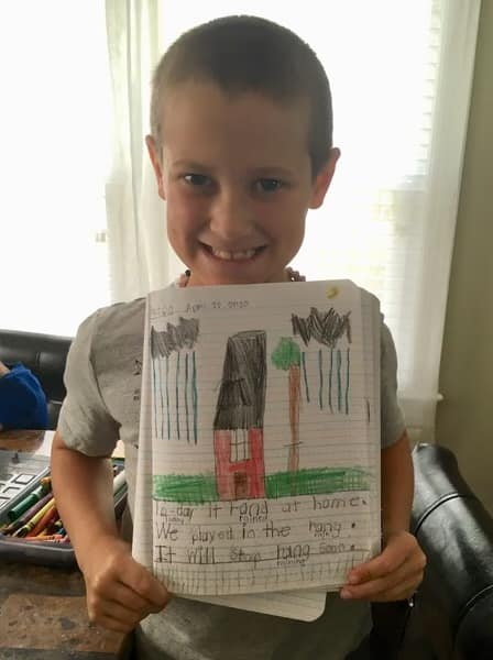 Writing Wednesdays! First grader, Peyton Hall is proud to share his writing and illustration with his teacher, Mrs. Spivey! Way to go Peyton!