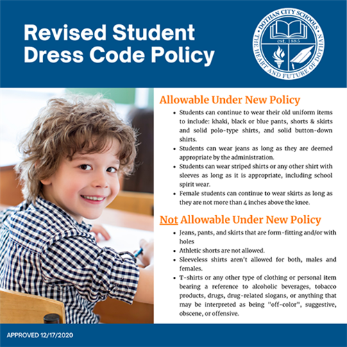 Revised Student Dress Code