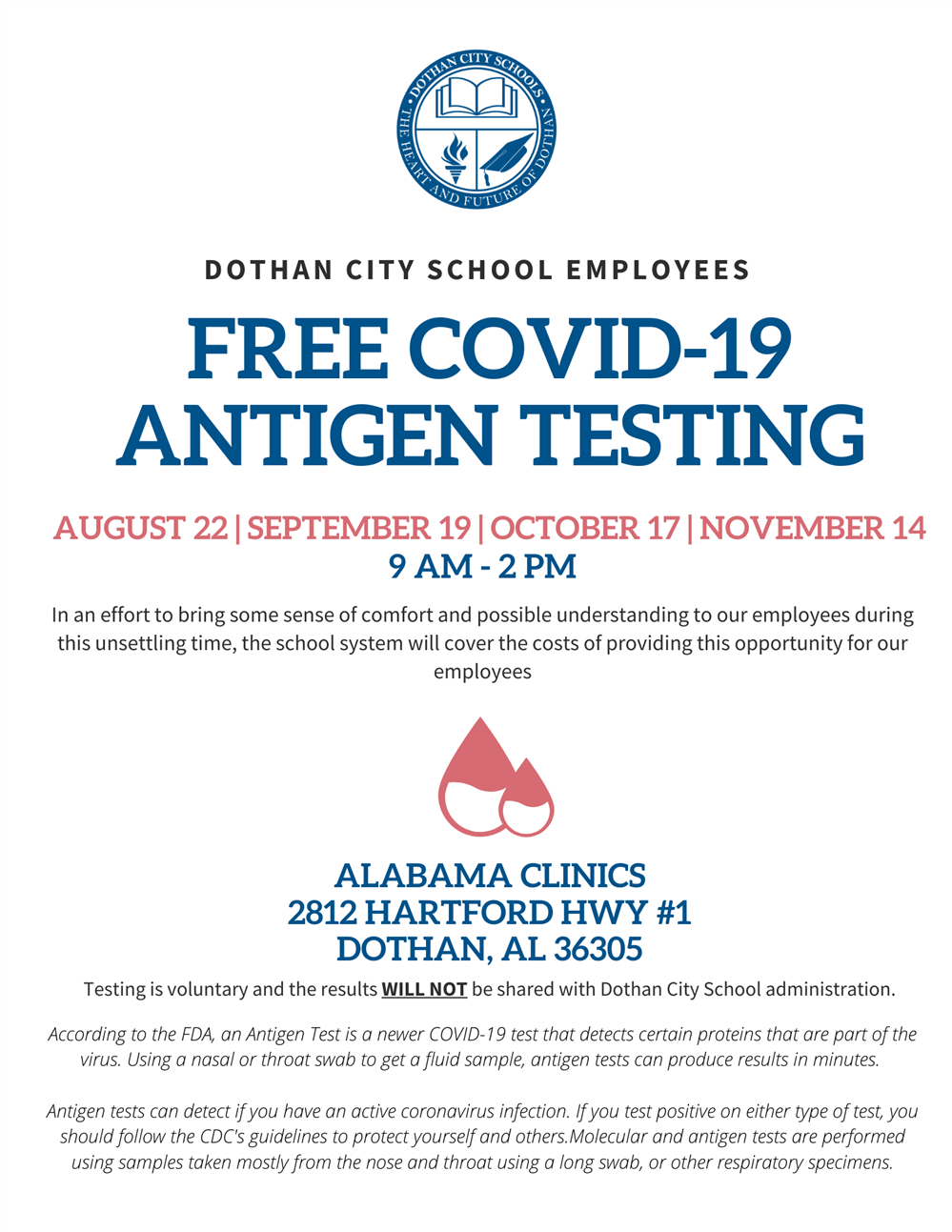 Free COVID-19 Antigen Testing for DCS Employees