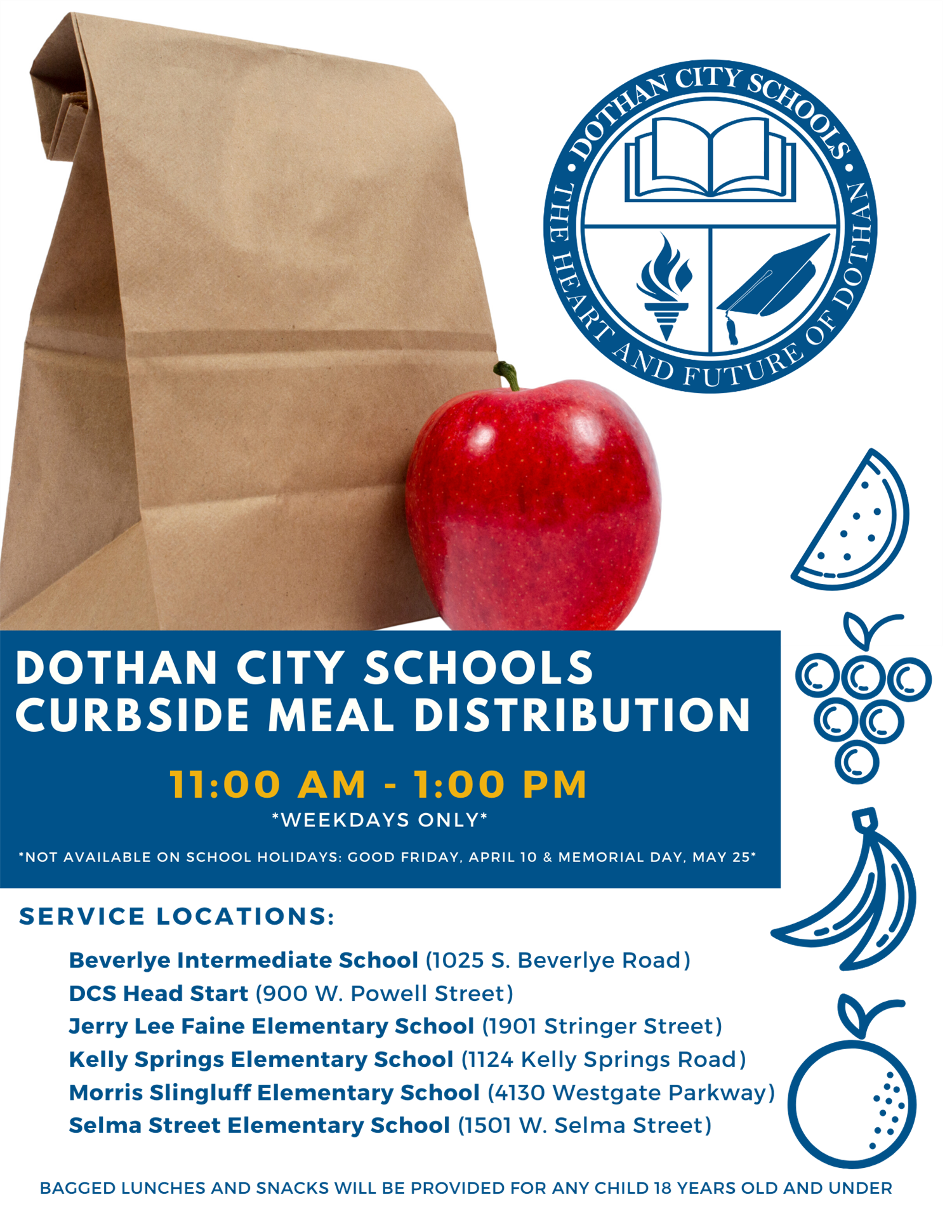 Dothan City Schools' Curbside Meal Distribution Program