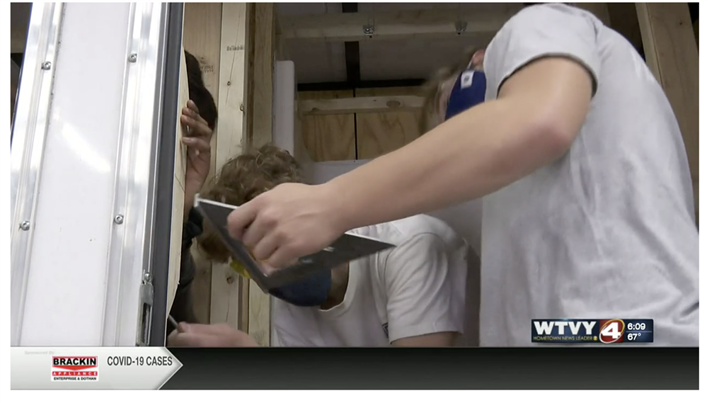 Dothan Tech students completing shower trailer for the homeless community